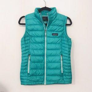 Patagonia mako blue down vest